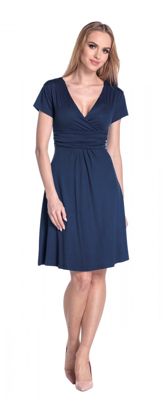 thumbnail 50 - Glamour-Empire-Women-039-s-Knee-Length-Short-Sleeve-Jersey-Skater-Summer-Dress-108