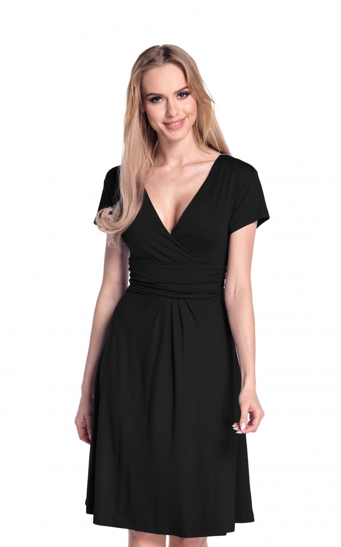 thumbnail 3 - Glamour-Empire-Women-039-s-Knee-Length-Short-Sleeve-Jersey-Skater-Summer-Dress-108