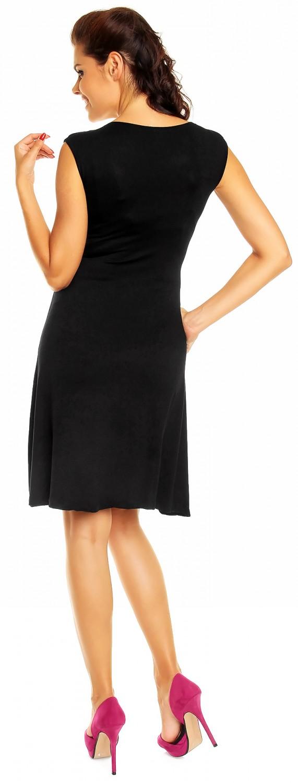 Zeta Ville Women/'s Maternity Sleeveless Flattering Summer Skater Dress 256c