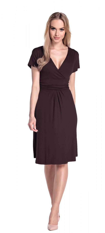 thumbnail 120 - Glamour-Empire-Women-039-s-Knee-Length-Short-Sleeve-Jersey-Skater-Summer-Dress-108