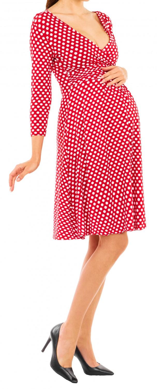 Happy Mama Womens Maternity Pregnancy Polka Dot Dress 3//4 Sleeve Spot Dress 017p
