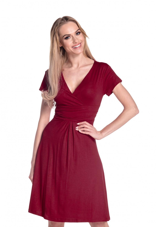 thumbnail 24 - Glamour-Empire-Women-039-s-Knee-Length-Short-Sleeve-Jersey-Skater-Summer-Dress-108