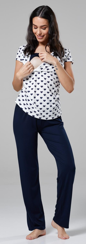 Happy Mama 201p Women/'s Maternity Top Nursing Breastfeeding Pyjamas Nightwear