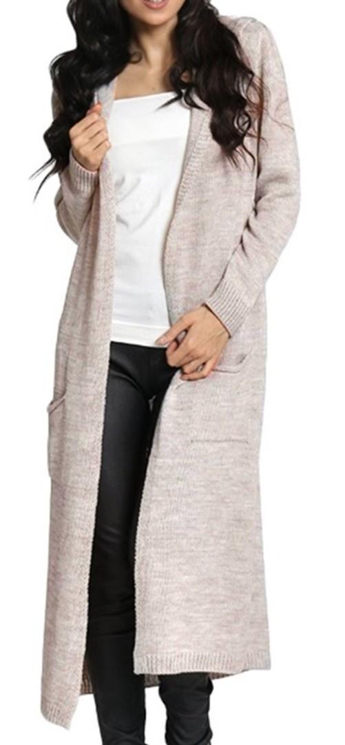 zeta ville women 39 s knitted warm coat long cardigan hood long sleeves 929z ebay. Black Bedroom Furniture Sets. Home Design Ideas