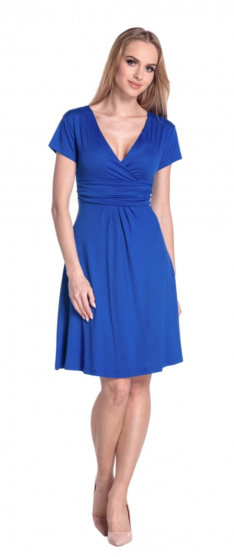 thumbnail 76 - Glamour-Empire-Women-039-s-Knee-Length-Short-Sleeve-Jersey-Skater-Summer-Dress-108
