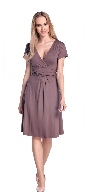 thumbnail 19 - Glamour-Empire-Women-039-s-Knee-Length-Short-Sleeve-Jersey-Skater-Summer-Dress-108