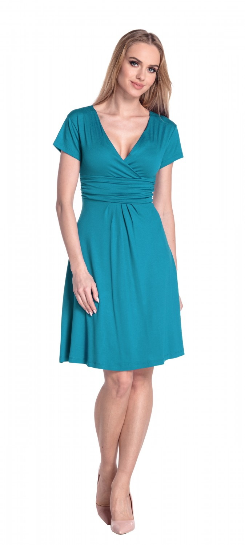 thumbnail 102 - Glamour-Empire-Women-039-s-Knee-Length-Short-Sleeve-Jersey-Skater-Summer-Dress-108
