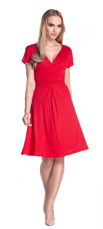 thumbnail 68 - Glamour-Empire-Women-039-s-Knee-Length-Short-Sleeve-Jersey-Skater-Summer-Dress-108