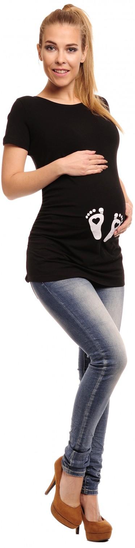 Happy Mama Pregnancy Maternity Femmes Bébé Aimer Empreinte Coton T -shirt 527