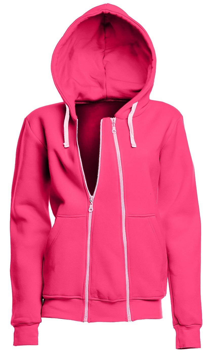 Womens zip front hoodies