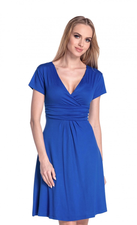 thumbnail 74 - Glamour-Empire-Women-039-s-Knee-Length-Short-Sleeve-Jersey-Skater-Summer-Dress-108