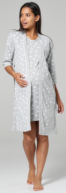 HAPPY MAMA Women/'s Maternity Nursing Hospital Printed Nightshirt// Robe 1168