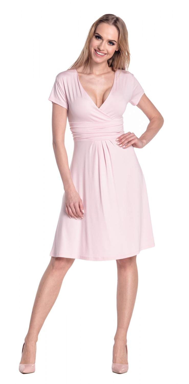thumbnail 87 - Glamour-Empire-Women-039-s-Knee-Length-Short-Sleeve-Jersey-Skater-Summer-Dress-108