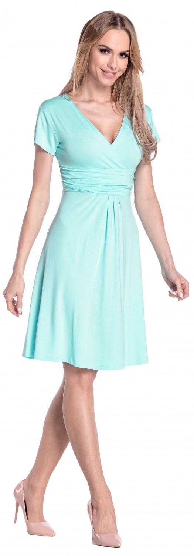 thumbnail 133 - Glamour-Empire-Women-039-s-Knee-Length-Short-Sleeve-Jersey-Skater-Summer-Dress-108