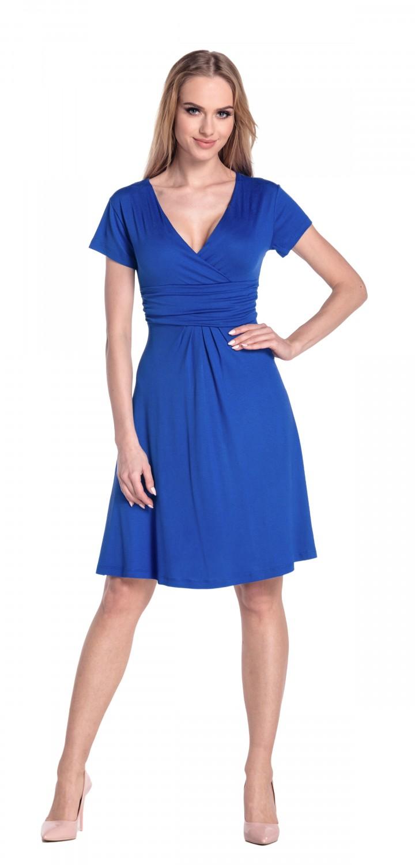thumbnail 75 - Glamour-Empire-Women-039-s-Knee-Length-Short-Sleeve-Jersey-Skater-Summer-Dress-108