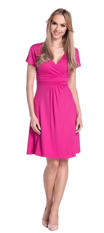 thumbnail 81 - Glamour-Empire-Women-039-s-Knee-Length-Short-Sleeve-Jersey-Skater-Summer-Dress-108