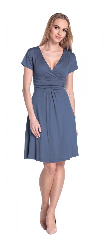 thumbnail 12 - Glamour-Empire-Women-039-s-Knee-Length-Short-Sleeve-Jersey-Skater-Summer-Dress-108