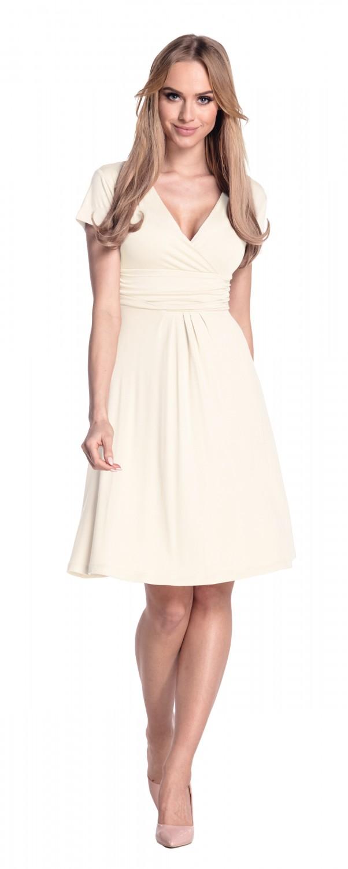thumbnail 55 - Glamour-Empire-Women-039-s-Knee-Length-Short-Sleeve-Jersey-Skater-Summer-Dress-108