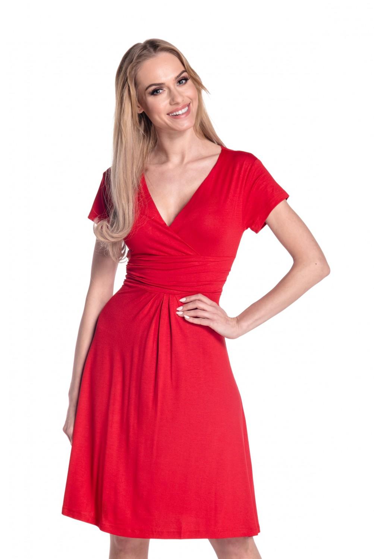 thumbnail 67 - Glamour-Empire-Women-039-s-Knee-Length-Short-Sleeve-Jersey-Skater-Summer-Dress-108