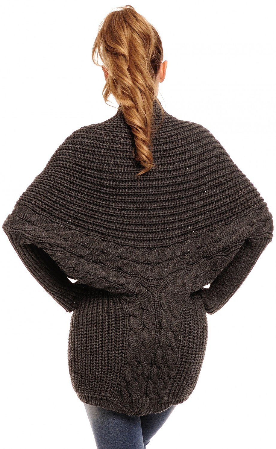 Glamour-Empire-Women-039-s-Long-Sleeve-Batwing-Knitted-Cardigan-329