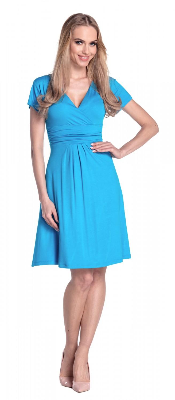 thumbnail 114 - Glamour-Empire-Women-039-s-Knee-Length-Short-Sleeve-Jersey-Skater-Summer-Dress-108