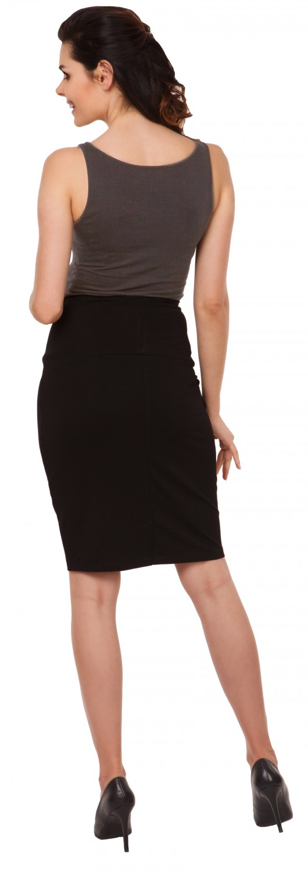 Zeta Ville - Women's Maternity midi length pencil skirt stretch ...