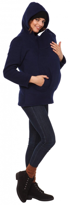 031p Happy Mama Women/'s Maternity Fleece Hoodie Duo Top Carrier Baby Holder