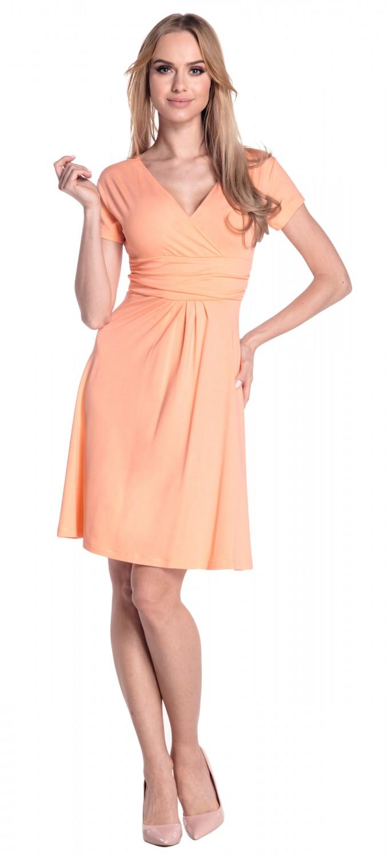 thumbnail 95 - Glamour-Empire-Women-039-s-Knee-Length-Short-Sleeve-Jersey-Skater-Summer-Dress-108