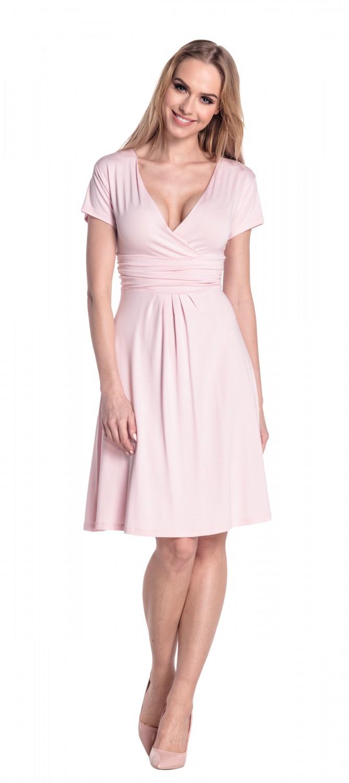 thumbnail 88 - Glamour-Empire-Women-039-s-Knee-Length-Short-Sleeve-Jersey-Skater-Summer-Dress-108