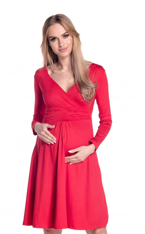 Happy Mama Women's Maternity Jersey Empire Dress Long