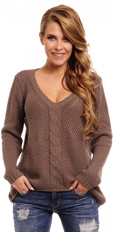 CAPRI MODA * Women's Chunky Cable Knit Jumper Pullover ...