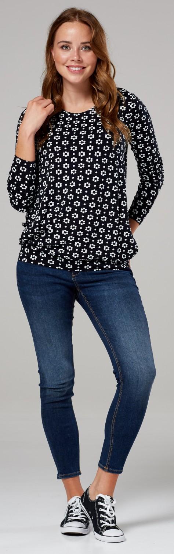 Women/'s maternity nursing t-shirt crew neck layered design 005c Zeta Ville