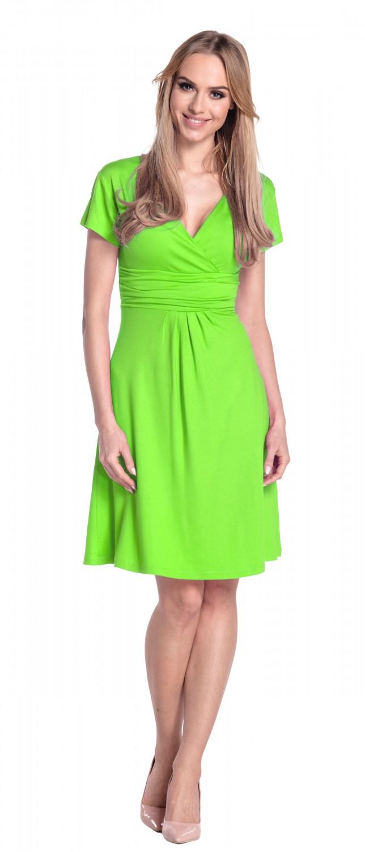 thumbnail 31 - Glamour-Empire-Women-039-s-Knee-Length-Short-Sleeve-Jersey-Skater-Summer-Dress-108