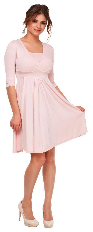 Happy Mama. Women's Maternity Nursing 2in1 Skater Dress 3 ...