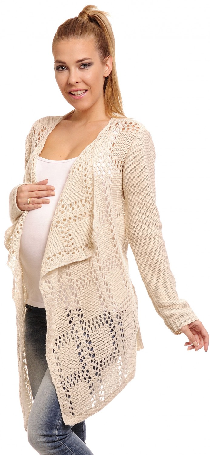 Happy Mama Women's Maternity Waterfall Cardigan Crochet Knit Coat ...
