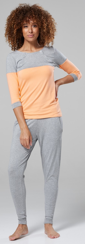 ZETA VILLE Women/'s Lounge Maternity /& Nursing Pyjamas /& Robe Set 1122