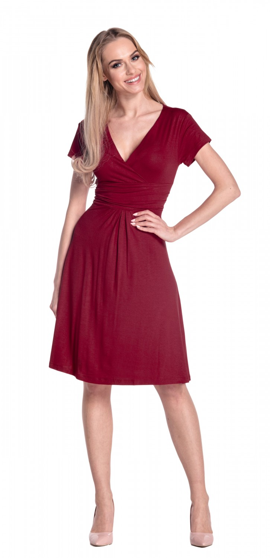 thumbnail 26 - Glamour-Empire-Women-039-s-Knee-Length-Short-Sleeve-Jersey-Skater-Summer-Dress-108