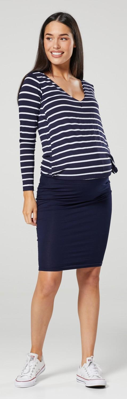 HAPPY MAMA Women/'s Maternity Nursing Mini Dress Long Sleeve V-Neck 1191