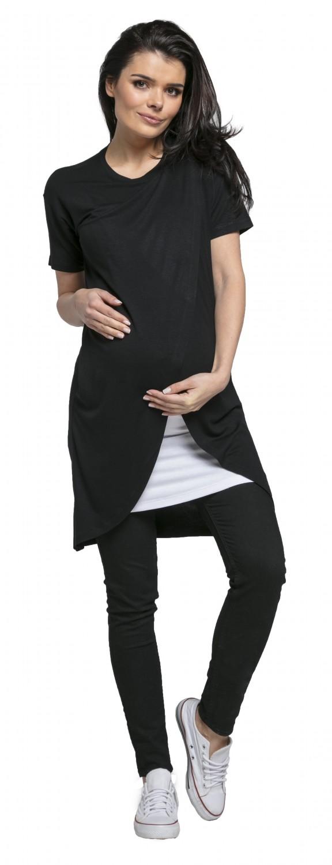 Double Layer 662p Happy Mama Women/'s Maternity Nursing Wrap Dress Short Sleeves