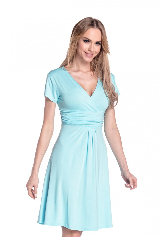 thumbnail 41 - Glamour-Empire-Women-039-s-Knee-Length-Short-Sleeve-Jersey-Skater-Summer-Dress-108