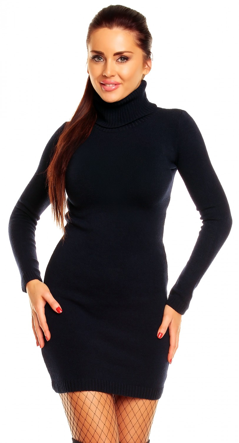 zeta ville women 39 s long sleeve polo neck tunic sweater 888. Black Bedroom Furniture Sets. Home Design Ideas