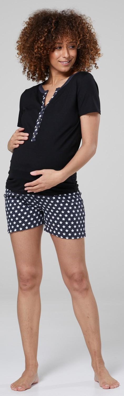 Happy Mama Maternité L/'allaitement maternel Summer pyjama à manches courtes short 1073