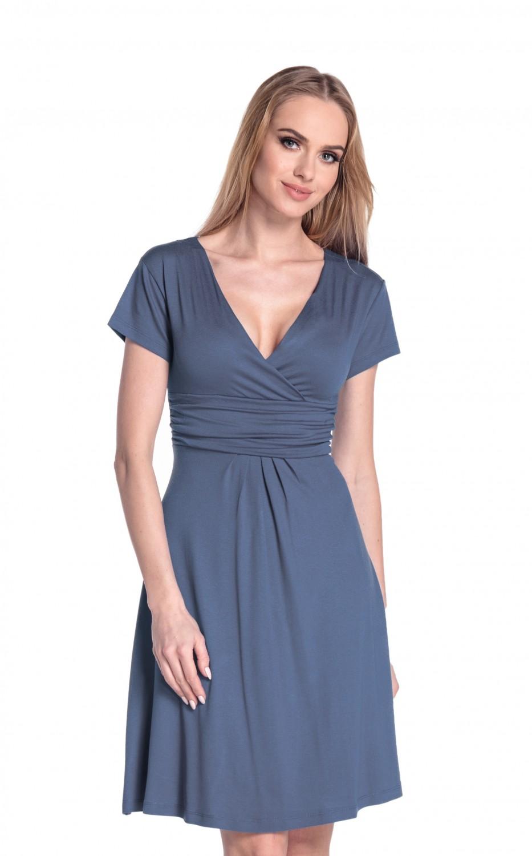 thumbnail 10 - Glamour-Empire-Women-039-s-Knee-Length-Short-Sleeve-Jersey-Skater-Summer-Dress-108