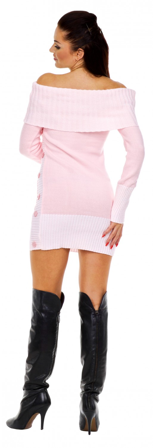 Zeta Ville - Women's Stretch Knitted Bardot Jumper Dress Sweater ...