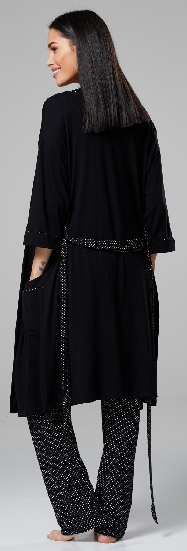 Robe 558p Top Pants Zeta Ville Women/'s Maternity Nursing 3pcs Nightwear Set