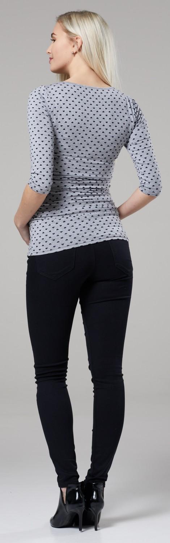 Women/'s Maternity Nursing Double Layer Top Crew Neck Shirt 058p Zeta Ville