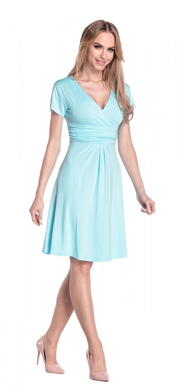 thumbnail 43 - Glamour-Empire-Women-039-s-Knee-Length-Short-Sleeve-Jersey-Skater-Summer-Dress-108