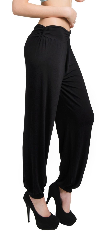 Glamour Empire Women's Mid Rise Full Length Buggy Harem Trousers 131