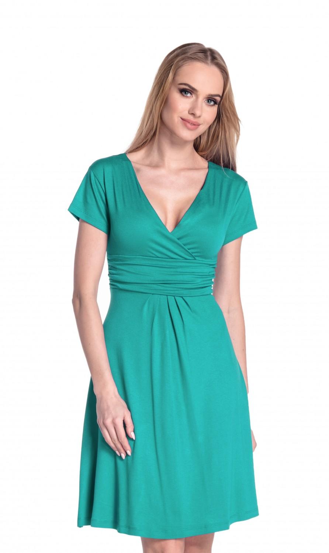 thumbnail 107 - Glamour-Empire-Women-039-s-Knee-Length-Short-Sleeve-Jersey-Skater-Summer-Dress-108