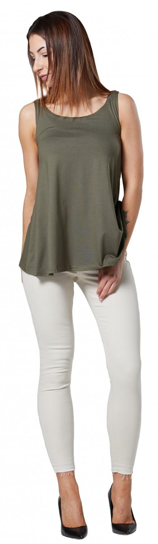 Open Front Sleeveless Top 091 HAPPY MAMA Women/'s Maternity Nursing A-Line Shirt